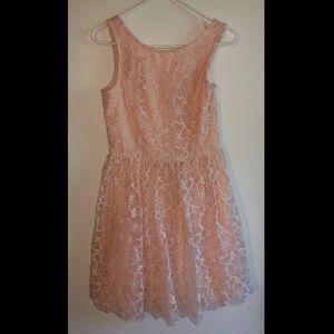 Light Pink Floral Lace Dress